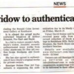 Artist's widow to authenticate works