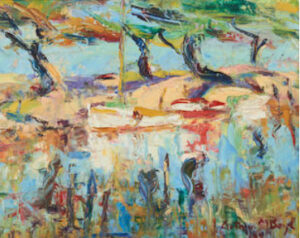 Lot 35 - Arthur Boyd, Mordialloc Creek, c1938, est. $12,000-18,000. Arthur goes abstract