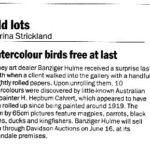Watercolour birds free at last