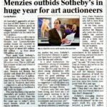 Menzies outbids Sotheby's in huge year for art auctioneers