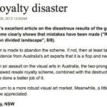 Resale royalty disaster