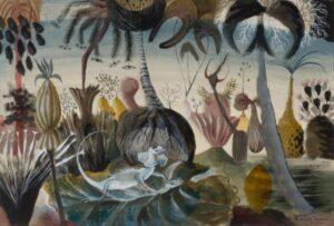Lot 133, Donald Friend, Jungle with Lizard 1959, est. $5,000-8,000. Friend's Dali Moment