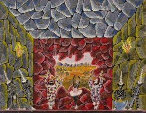 Lot 134, Henri Bastin, Aboriginal Dancers 1963, est. $800-1,200. Mirth Maketh Man