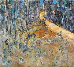 Lot 40, Fred Williams, Bush Road with Cootamundras, 1977, est. $370,000-420,000. The Landscape King