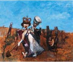 Lot 48, Garry Shead, Queen of Spades, 1995, est. $50,000-60,000. Play your cards right