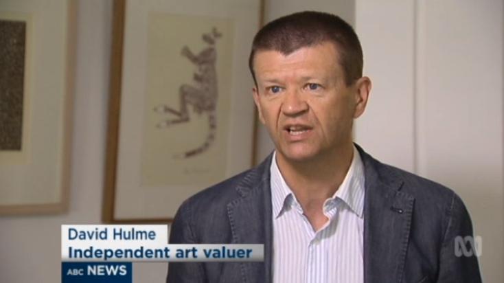 David Hulme  on the ABC TV News on 10 April 2016