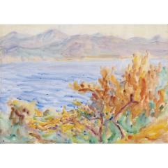 Lot 34, John Russell, Offshore Breeze, Liguria (1920), est.  □$6,000-9,000. Water Music