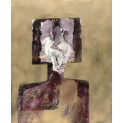 Lot 176, Sidney Nolan, Ned Kelly Head 1964, est. $20,000-30,000. Kelly with Welly