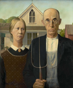 """The Year of Pitchfork Politics - Grant Wood """"American Gothic"""""""