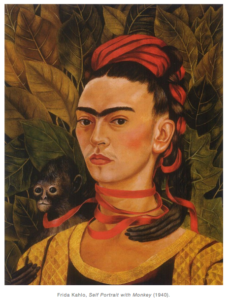 Hanging at Madonna's House - Self portrait with Monkey, Frida Kahlo, 1940