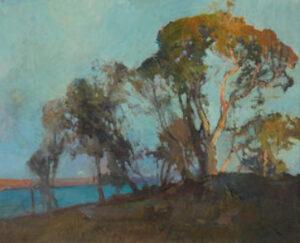 Lot 30 - Sydney Long, Evening Glow, Georges River, c1940, est. $9,000-12,000. Splendor in the Grass