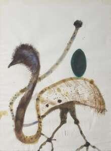 John Olsen artwork watercolour