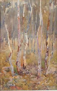 Hans Heysen Australian artist watercolour